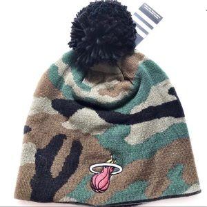 NWT Adidas NBA Miami Heat Camouflage Beanie OS